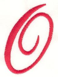 Fancy Monogram O embroidery design