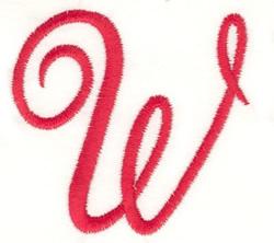 Fancy Monogram W embroidery design