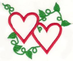 Vine Heart embroidery design