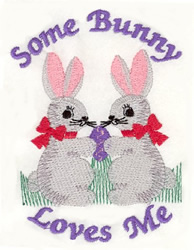 Bunnies in Love embroidery design
