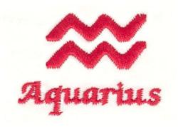 Aquarius Symbol embroidery design