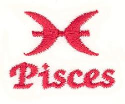 Pisces Symbol embroidery design