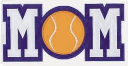 Tennis Mom Applique embroidery design