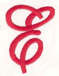 Elegant Letter E embroidery design