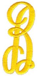 Swirl Monogram B embroidery design