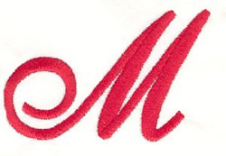 Elegant Letter M embroidery design