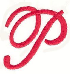 Elegant Letter P embroidery design