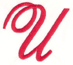 Elegant Letter U embroidery design