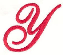 Elegant Letter Y embroidery design