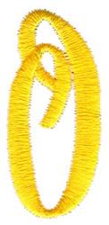 Swirl Monogram Letter O embroidery design