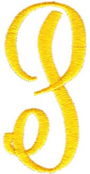 Swirl Monogram Letter P embroidery design