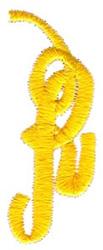 Swirl Monogram Letter R embroidery design