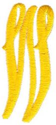 Swirl Monogram Letter W embroidery design