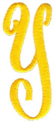 Swirl Monogram Letter Y embroidery design