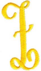 Swirl Monogram Letter Z embroidery design