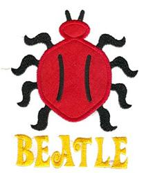 Beatle Applique embroidery design