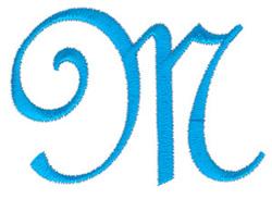 Classic Monogram Letter M embroidery design