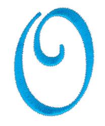 Classic Monogram Letter O embroidery design