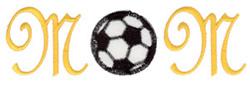 Soccer Mom Cursive embroidery design
