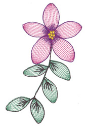 Lacy Flower embroidery design
