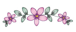 Lacy Flower Border embroidery design
