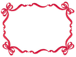 Ribbon and Bow Frame embroidery design