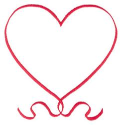 Ribbon Heart embroidery design