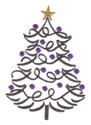 Tree with Ornaments embroidery design