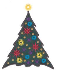 Snowflake Tree Applique embroidery design