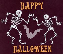 Halloween Skeletons embroidery design