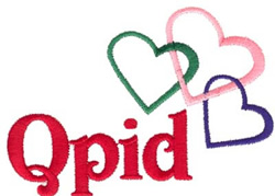 Cupid Hearts embroidery design