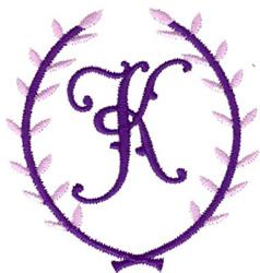 Crest Monogram K embroidery design