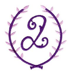 Crest Monogram Q embroidery design