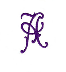 Elegant Vine Monogram A embroidery design