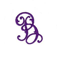 Elegant Vine Monogram B embroidery design