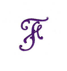 Elegant Vine Monogram F embroidery design