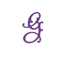 Elegant Vine Monogram G embroidery design