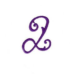 Elegant Vine Monogram Q embroidery design