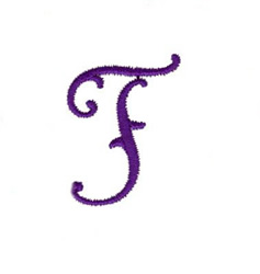 Elegant Vine Monogram T embroidery design