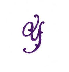 Elegant Vine Monogram Y embroidery design
