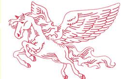 Pegasus embroidery design