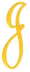 Big & Bold J embroidery design