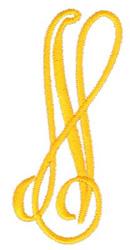 Big & Bold N embroidery design