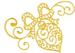 Swirl Ornament embroidery design