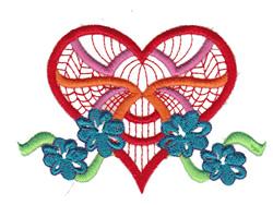 Flower Heart embroidery design