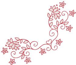 Heart Border embroidery design