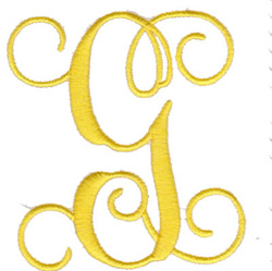 "Elegant 4"" G embroidery design"
