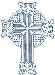 Bluework Ornate Cross embroidery design