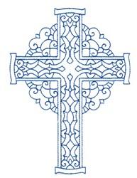 Bluework Cross embroidery design