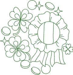 St. Patricks Day Greenwork embroidery design